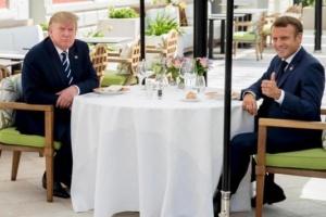 Макрон и Трамп провели незапланированную встречу перед началом саммита G7