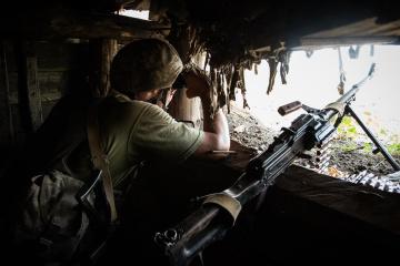 Okupanci w Donbasie 26 razy naruszyli zawieszenie broni