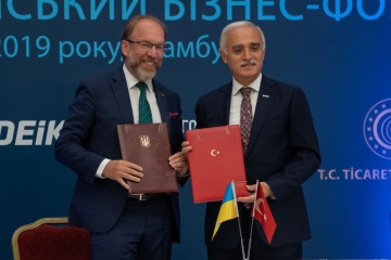 Ukraine und Türkei unterzeichnen Abkommen über Entwicklung geschäftlicher Zusammenarbeit