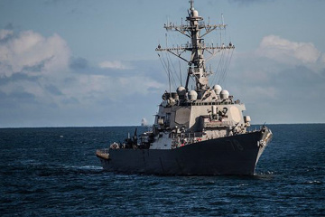 U.S. guided-missile destroyer Porter heading for Black Sea