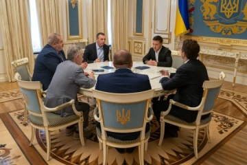 Zelensky meets with representatives of Crimean Tatar people