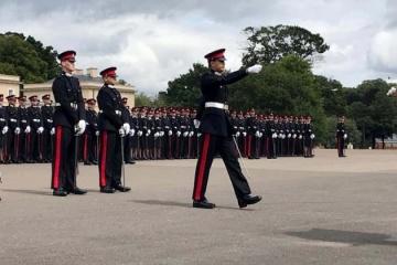 Un Ukrainien est devenu le meilleur diplômé étranger de l'Académie royale militaire de Sandhurst (photos)