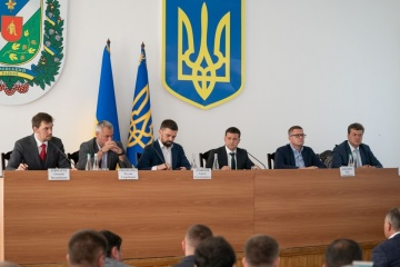 Präsident Selenskyj stellt neuen Leiter der Staatlichen Regionalverwaltung von Schytomyr vor