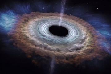 Из-за черной дыры впервые зафиксировали свет
