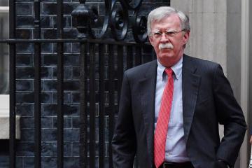 U.S. National Security Advisor Bolton arrives in Kyiv
