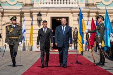 【宇イスラエル首脳会談】二国間自由貿易圏の拡大に合意