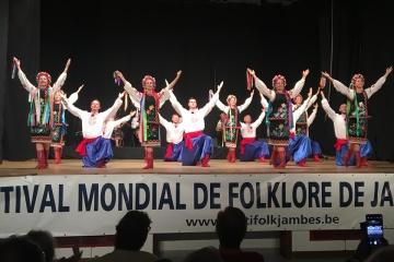 Skoczny hopak został zaprezentowany na 59. Światowym Festiwalu Folklorystycznym w Belgii
