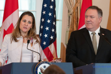Freeland, Pompeo discuss support for Ukraine amid ongoing Russian aggression