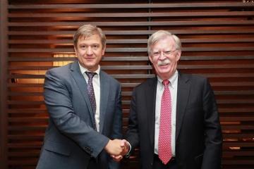 Danyljuk und Bolton sprechen über nationale Sicherheit
