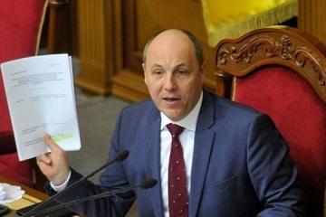 Parlamentschef Parubij unterzeichnet Wahlgesetzbuch