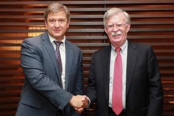 Danylyuk, Bolton discuss strengthening of Ukrainian-American relations