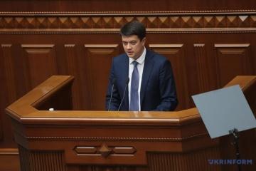 Dmytro Rasumkow zum Parlamentschef gewählt