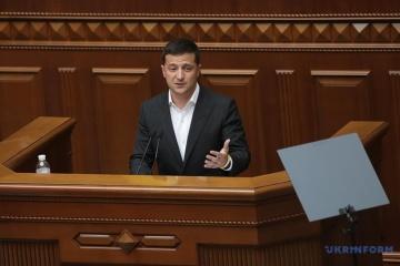 Am 20. Oktober tritt Selenskyj vor Rada mit Jahresbotschaft auf