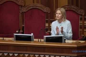 Olena Kondratjuk wird zur Vizechefin der Werchnowna Rada gewählt