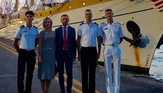 Украинские курсанты прошли стажировку на корабле НАТО