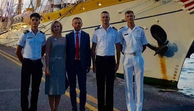 Des cadets ukrainiens effectuent un stage sur un navire de l'OTAN (Photos)