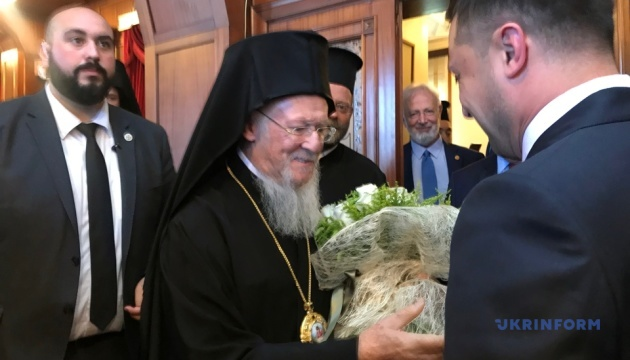 Ukrainian president meets with Ecumenical Patriarch in Istanbul
