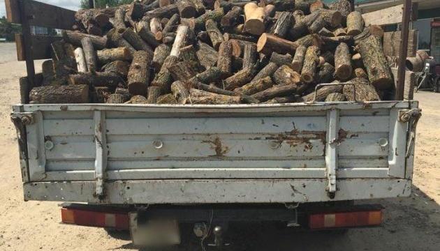 Херсонська поліція відправляє на штрафмайданчик транспорт з підозрілою деревиною