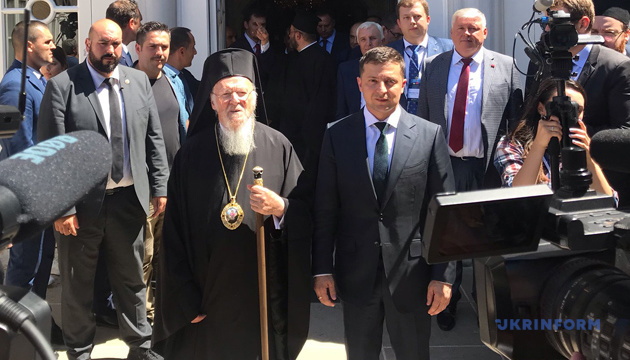 Варфоломій показав Зеленському собор Святого Георгія та провів до кортежу