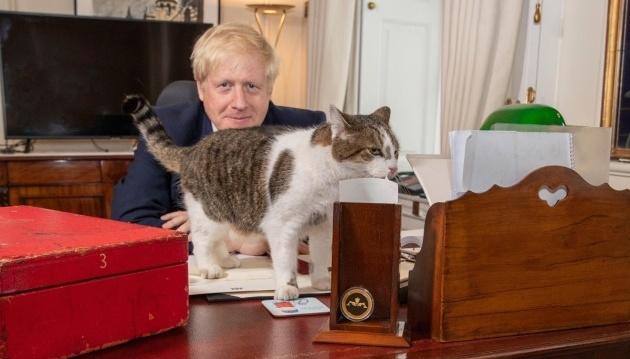 Британський прем'єр привітав головного урядового мишолова з Днем кота