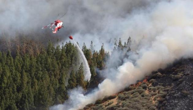 На одному з Канарських островів - лісові пожежі, тисячу людей евакуювали