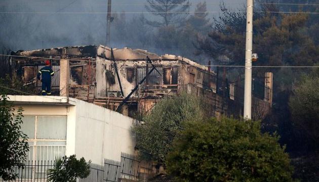 Під Афінами спалахнула велика лісова пожежа