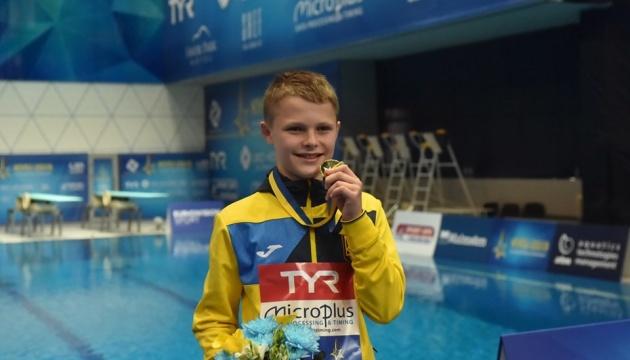 13-річний українець Середа виграв чемпіонат Європи зі стрибків у воду