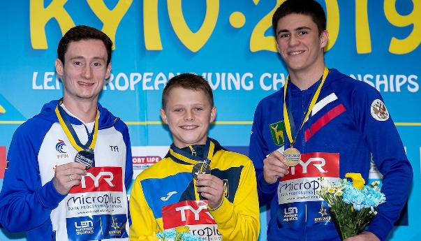 Намолодший чемпіон Європи у стрибках у воду Середа розповів про свою перемогу