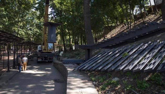 У Києві будують нові сходи від Андріївської церкви до Алеї художників
