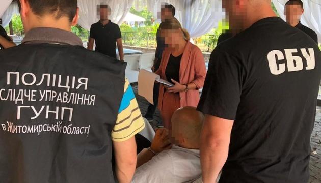 У Житомирі затримали активіста, який вимагав $30 тисяч у директора підприємства