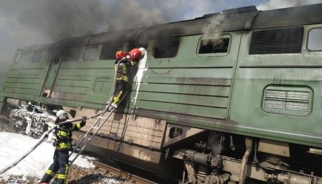 На Луганщині спалахнула пожежа в локомотиві на залізничному перегоні