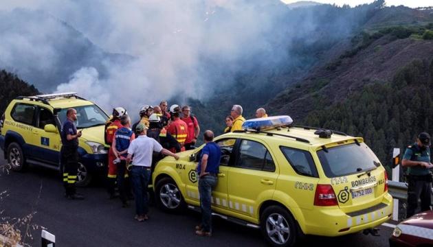 Через пожежі на Канарах евакуювали майже 2 тисячі осіб