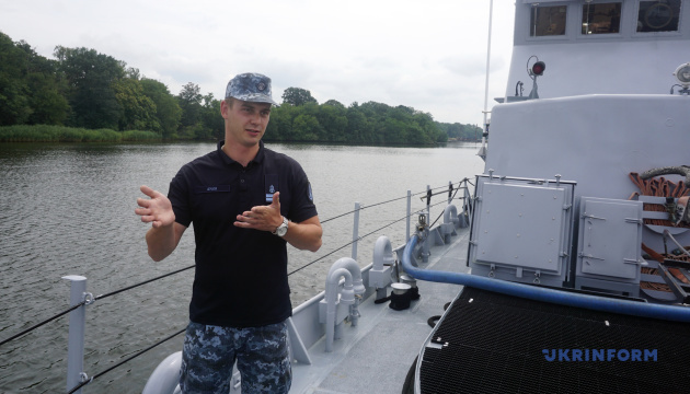 """Дамир Аулин, командир патрульного катера типа Island Р-190 """"Славянск"""""""