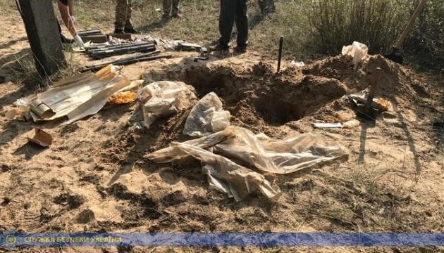 СБУ обнаружила схрон с оружием в районе проведения ООС