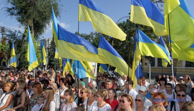 ウクライナ独立記念日、各地のお祝いの様子