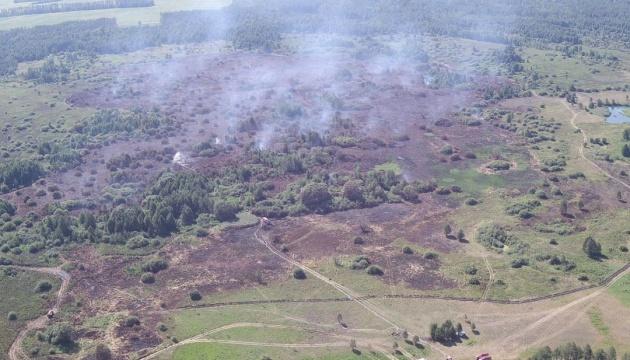 На Чернігівщині горять уже п'ять торфовищ