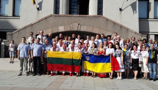 Концерти, флешмоб і виставка відбулися у Литві з нагоди Дня Незалежності України
