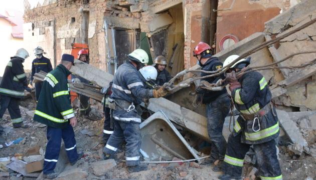 Під час обвалу будинку у Дрогобичі постраждали п'ятеро дітей