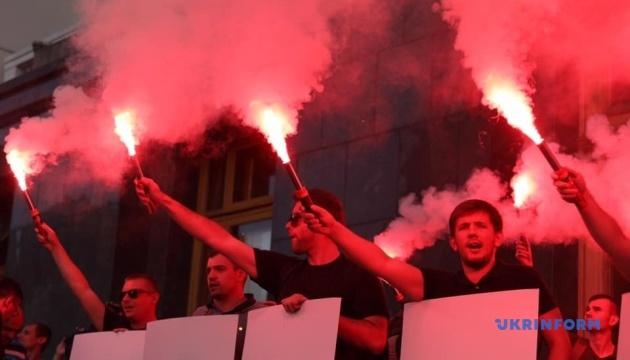 Активісти під ОП вимагали не призначати Авакова в новий уряд