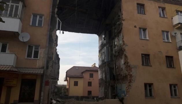 Обвал будинку у Дрогобичі: ДСНС завершила розбирати завали