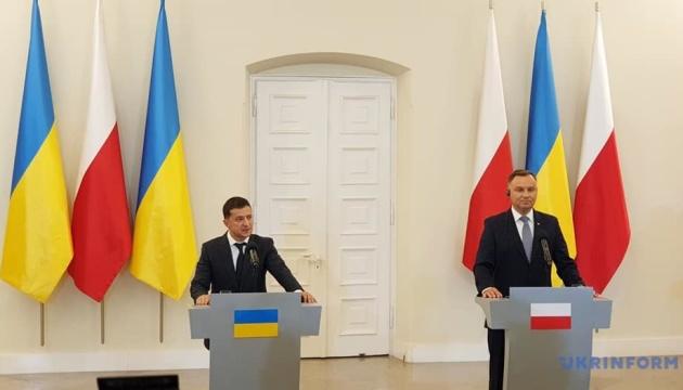 Зеленский обсудил с Дудой возможность присоединения Украины к