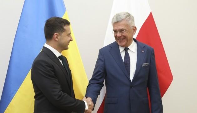 Зеленський виступає за активізацію міжпарламентського діалогу з Польщею