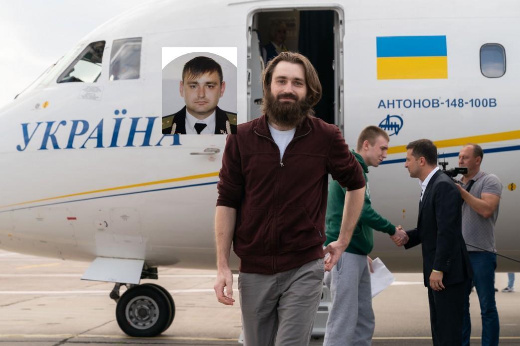 Сергій Попов заміряв час перебування в полоні довжиною волосся (з президентом вітається Сергій Цибізов)