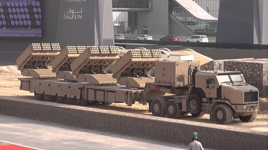 Монструозне РСЗВ Jobaria Multiple Cradle Launcher від Jobaria Defense Systems (входить до складу корпорації Tawazun Group - ОАЕ)