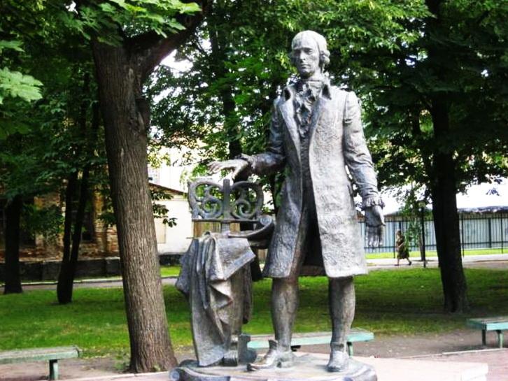 монумент Ж.С.Бортнянському у Грухові, скульптор Інна Коломієць