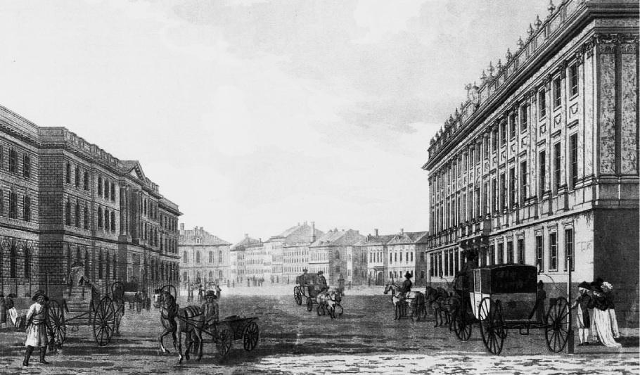 вид Мільйонноє вулиці, 1790 р.