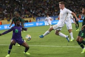 Testspiel: Ukrainische Fußball-Nationalmannschaft rettet Unentschieden gegen Nigeria