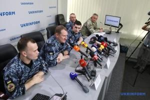 Gefangenenaustausch: Marinesoldaten geben Pressekonferenz in Ukrinform - Video