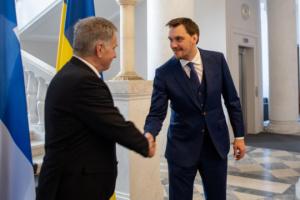Hontscharuk spricht mit Niinistö über Investitionsklima in der Ukraine
