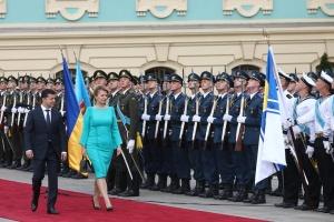 Zelensky se reúne con la presidenta de Eslovaquia (Vídeo, Fotos)